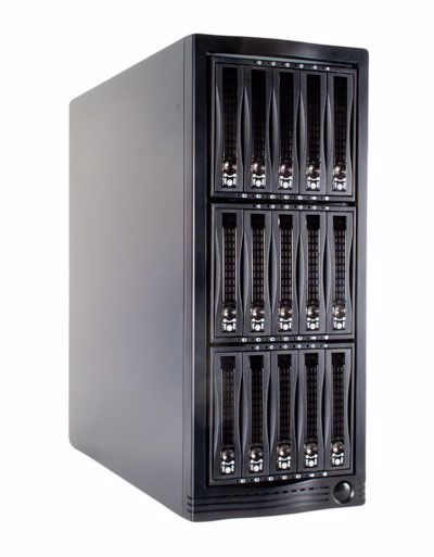 Picture of 15 bay 6Gb/s SAS Expander Tower JBOD Enclosure - E1506