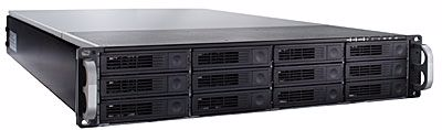 Picture of RAID Machine 12-bay Hotswap 6G SAS / SATA Rackmount JBOD w/ Redundant PSU - R1212RM