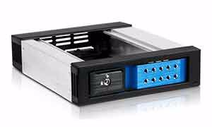 Picture of iStarUSA BPN-DE110HD-BLUE 1-Bay 12Gb/s Trayless SAS/SATA Mobile Rack