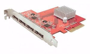 Picture of 4-Port PCIe eSATA Controller