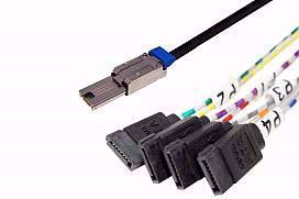 Picture of 4xSATA (device) to SFF-8088 (host) Fanout Cable