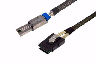 Picture of SFF-8087 to SFF-8088 SAS Cable