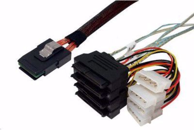 Picture of 1m SFF-8087 to SFF-8482 x 4 Fanout SAS Cable