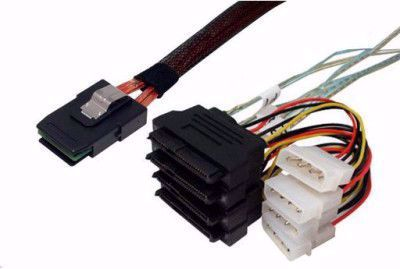 Picture of SFF-8087 to SFF-8482 x 4 Fanout SAS Cable