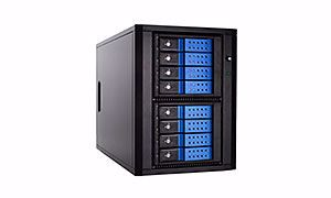 Picture of 8 Bay 6G SAS/SATA Trayless Tower JBOD w/ Expander - E0806T