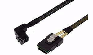 Picture of 1m Right Angle SFF-8643 to SFF-8087 SAS Cable
