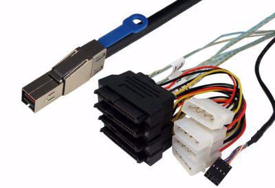 Picture of 1m SFF-8644 to 4xSFF-8482 Fanout Cable