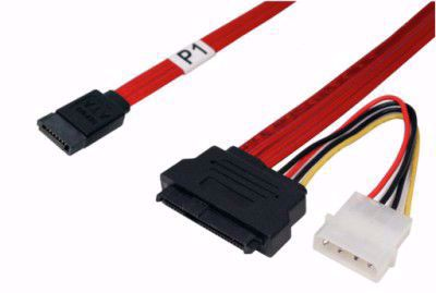 Picture of 0.5m 7pin SATA to SFF-8482 SAS Cable