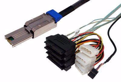 Picture of SFF-8088 to SFF-8482 Fanout SAS Cable