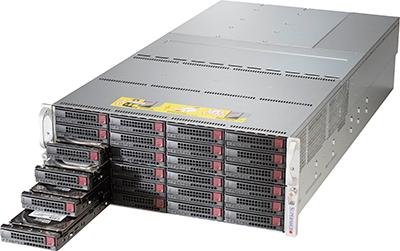 Picture of SuperMicro 4U 90-Bay 12G Dual Expander SuperChassis - SC847DE2C-R2K04JBOD