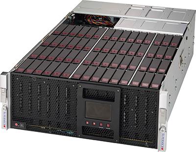 Picture of SuperMicro 4U 60-Bay 12G SuperChassis - SC946SE1C-R1K66JBOD