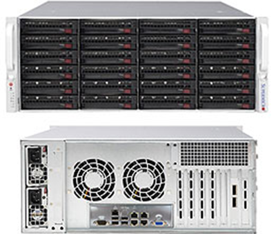 Picture of SuperMicro 4U 24-Bay Dual Expander Backplane Server SuperChassis - 846BE2C-R1K23B