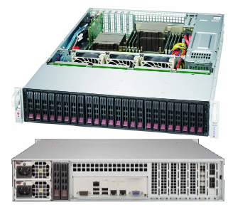 "Picture of SuperMicro 2U 24-Bay 2.5"" Server SuperChassis - SC216BE1C4-R1K23LPB"