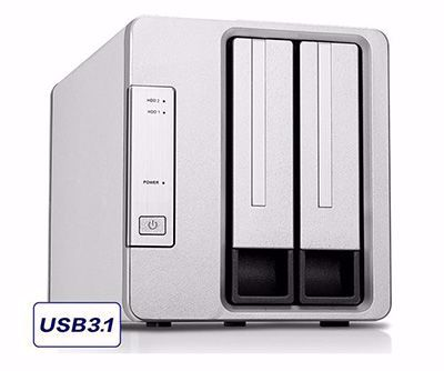 Picture of TerraMaster D2-310 USB Type C External Hard Drive RAID Enclosure USB3.1 (Gen2, 10Gbps) SUPERSPEED+ 2-Bay RAID Storage
