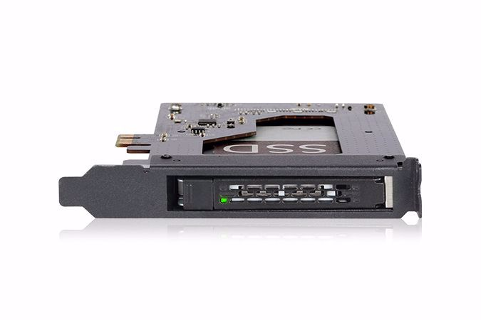 "Picture of ToughArmor MB839SP-B 2.5"" SATA SSD/HDD to PCIe 2.0 x1 Hot-Swap Mobile Rack for PCIe Expansion Slots"