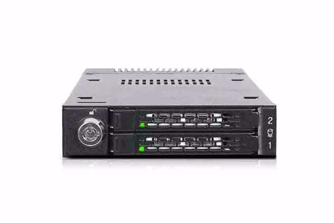"""Picture of ToughArmor MB834M2K-B 2x M.2 PCIe NVMe SSD Mobile Rack for External 3.5"""" Drive Bay"""