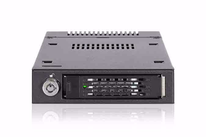 """Picture of ToughArmor MB601VK-1B 2.5"""" U.2 NVMe SSD Mobile Rack for External 3.5"""" Drive Bay"""