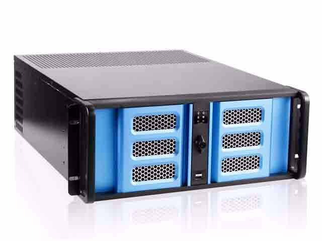 "Picture of iStarUSA D-406SE-B6SA 4U Compact Stylish 6x3.5"" Hotswap Server Chassis"