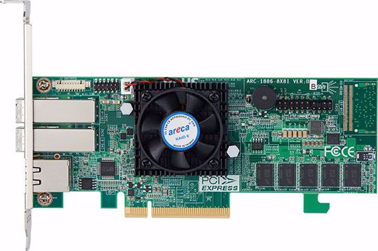 Picture of Areca ARC-1886-8x 8-Port PCIe Gen 4.0 Tri-Mode RAID Adapter